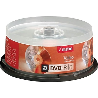 Imation 25/Pack 16X 4.7GB DVD-R, Spindle