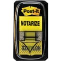 Post-it® 1in. Yellow in.Notarizein. Flags with Pop-Up Dispenser, 2/Pack