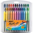 BIC® Mark-it Fine Point Permanent Markers, Assorted, 36/Pack