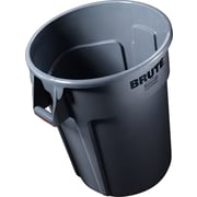 "Rubbermaid® Brute® Vented Trash Receptacle, Round, 44 Gallon, Gray, 31 1/2""H x 22"" Diameter"