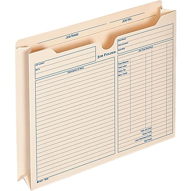 Adams® Expanding Job Folders, 2 Inch Expanding, 9.5 x 11.75 Inches, 15 Per Pack (9294E)