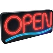 """NEWON® Horizontal """"OPEN"""" Sign with Wave"""