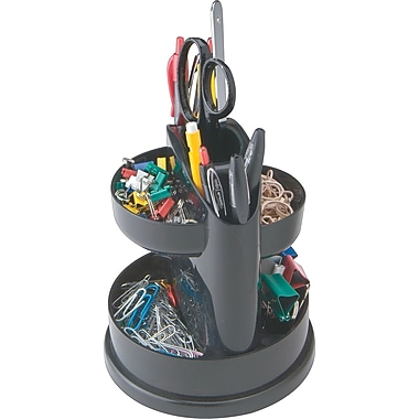 Staples 7 Compartment Rotating Desk Organizer