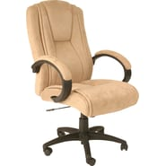 Comfort® Padded Microsuede Executive High-Back Chair, Beige
