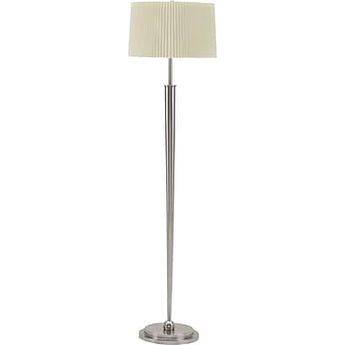 Fangio Barcelona Incandescent/CFL Floor Lamp, Brushed Steel
