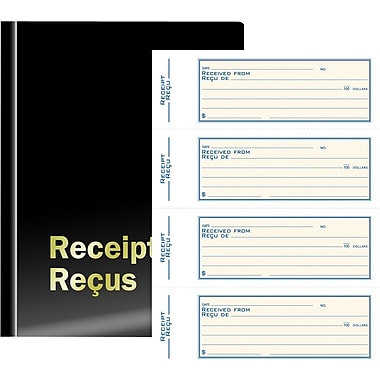 Staples® Deluxe Receipt Book, Duplicate, Bilingual