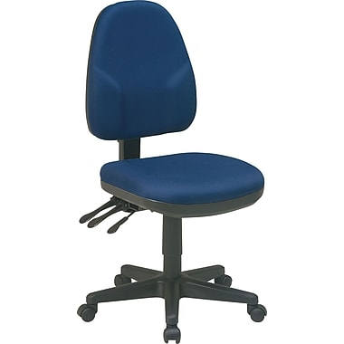 Office Star Fabric Ergonomic Armless Task Chair, Navy