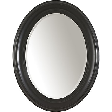 Carolina Cottage Oval Mirror,  Antique Black