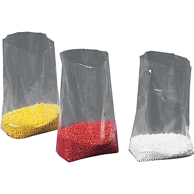 Gusseted Polyethylene Bags, 4in. x 2in. x 12in.