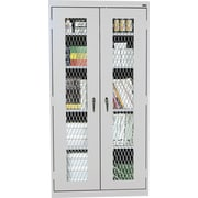 "Sandusky Stationary Metal Front Cabinet, Dove Gray, 72""H x 46""W x 24""D"