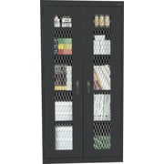 "Sandusky Stationary Metal Front Cabinet, Black, 72""H x 46""W x 18""D"