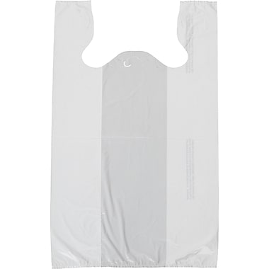 T-Shirt Bag, White, 11-1/2