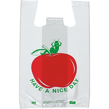 Pre-Printed T-shirt Bags- in.Have a Nice Dayin. Apple