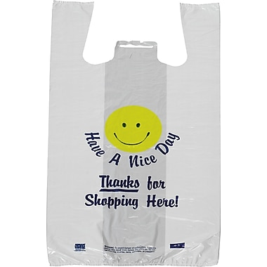 Pre-Printed T-shirt Bags in. Have a Nice Dayin. Smiley Face