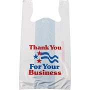 "Staples Pre-Printed T-Shirt Bags, ""Thank You for Your Business"", 1,000/Case (695977)"