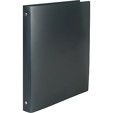 Simply .5-inch Round Ring Poly Binder, Black (15148-CC)
