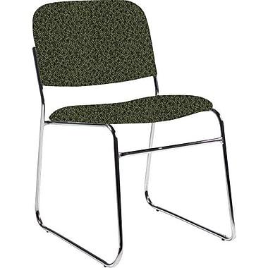 Global Custom Chrome Stack Chair, Jade, Premium Grade