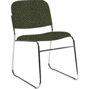 Global Custom Chrome Stack Chair, Jade, Premium Grade