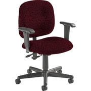 Global Custom Adjustable Task Chair, Cabernet, Premium Grade