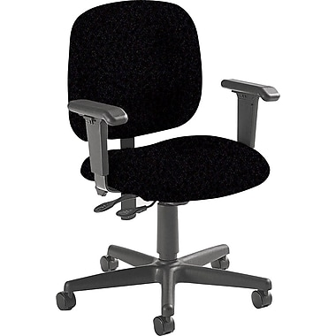 Global Custom Adjustable Task Chair, Black, Premium
