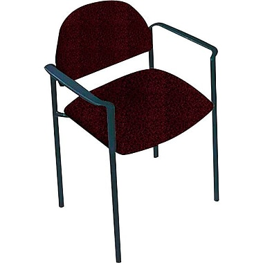 Global Custom Comet Stacking Reception Chair with Arms, Cabernet, Premium Grade