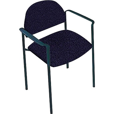 Global Custom Comet Stacking Reception Chair with Arms, Plum, Premium Grade