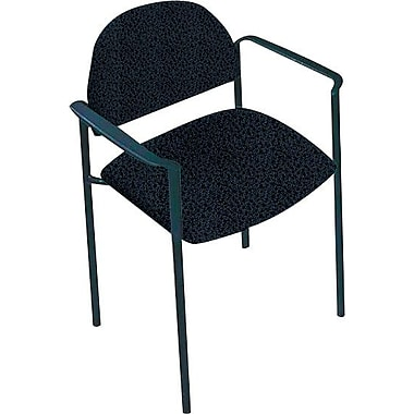 Global Custom Comet Stacking Reception Chair with Arms, Sapphire, Premium Grade