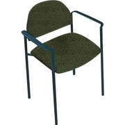 Global Custom Comet Stacking Reception Chair with Arms, Jade, Premium Grade
