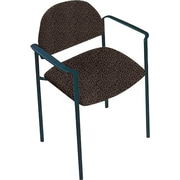 Global Custom Comet Stacking Reception Chair with Arms, Stone,  Premium Grade