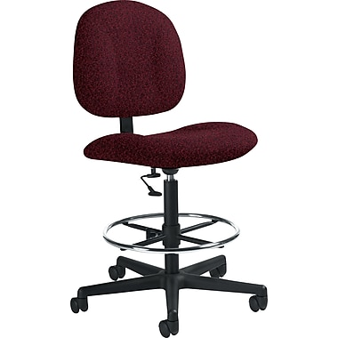Global Custom Deluxe Drafting Chair, Cabernet, Premium Grade