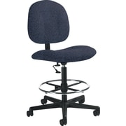 Global Custom Deluxe Drafting Chair, Plum, Premium Grade