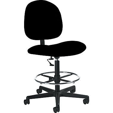 Global Custom Deluxe Drafting Chair, Black, Premium