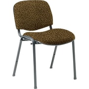 Global Custom Deluxe Stacking Chair, Barley, Premium Grade