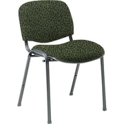 Global Custom Deluxe Stacking Chair, Jade, Premium Grade