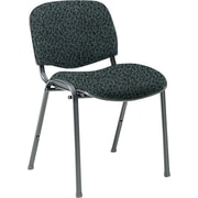 Global Custom Deluxe Stacking Chair, Graphite, Premium Grade