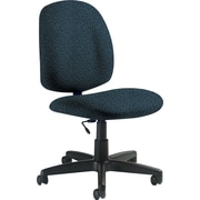 Global Custom Medium Back Armless Task Chair, Sapphire, Premium Grade