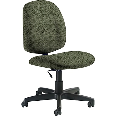 Global Custom Medium Back Armless Task Chair, Jade, Premium Grade