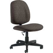 Global Custom Medium Back Armless Task Chair, Stone, Premium Grade