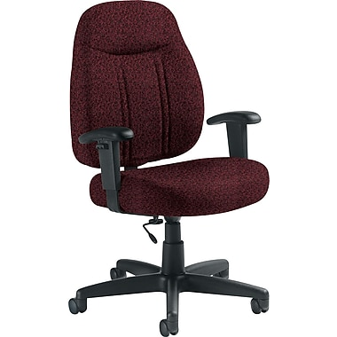 Global Custom High-Back Task Chair, Premium Grade, Cabernet