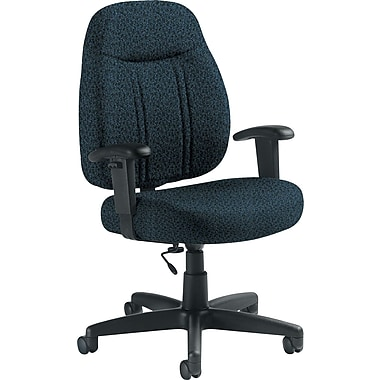 Global Custom High-Back Task Chair, Premium Grade, Sapphire