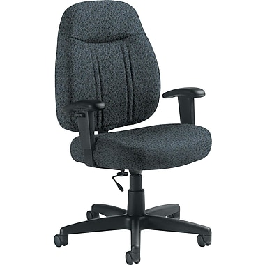 Global Custom High-Back Task Chair, Premium Grade, Cobalt