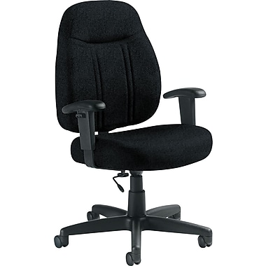 Global Custom High-Back Task Chair, Premium Grade, Black II