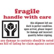 """Fragile Handle With Care Label, 4"""" x 6"""""""