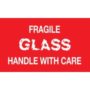 Fragile Glass Handle with Care Label, 5 x 3