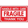"""Handle with Care, Thank You Label, 5"""" x 3"""""""