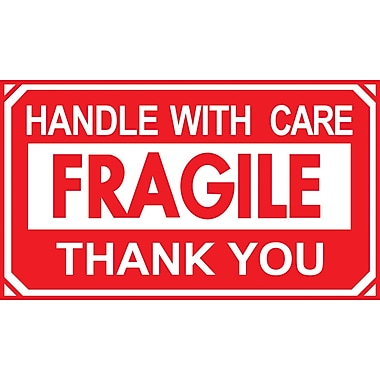 Handle with Care, Thank You Label, 5in. x 3in.