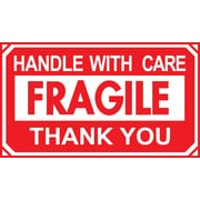 "Staples Handle with Care/Thank You Label, 5""L x 3""W (DL1250C)"
