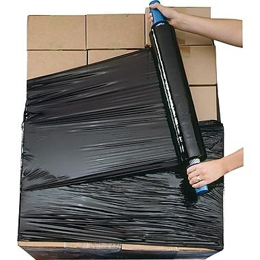 Systèmes de film étirable Goodwrappers® opaque noir, calibre 80, 20 po x 1 000 pi, 4 rouleaux/paquet