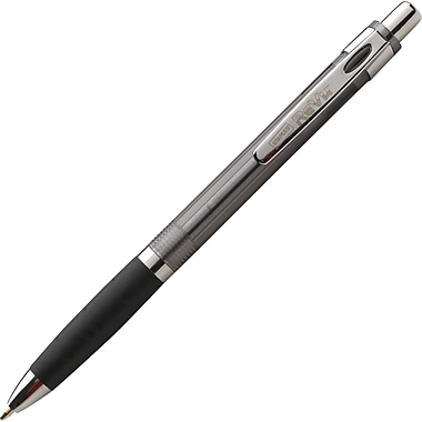 Staples® Revu™ Retractable Ballpoint Pen, Bold Point, Black, Dozen