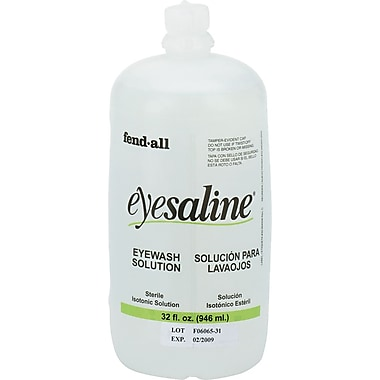 Fendall Sperian Saline Eye Wash Bottle Refill, 32 oz.